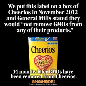 Cheerios Go Non-GMO